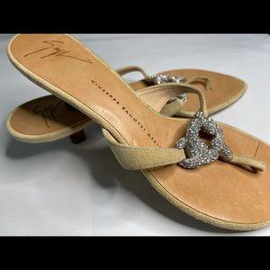 GIUSEPPE ZANOTTI kitten heel suede sandals
